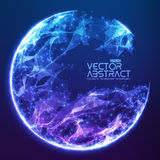 Abstract vector demolished sphere background Stock Photography