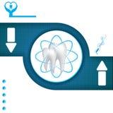 Abstract vector dental blue illustration Royalty Free Stock Photos