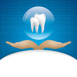 Abstract vector dental illustration Stock Photography