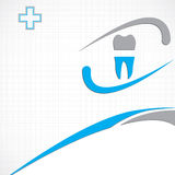 Abstract vector dental illustration Royalty Free Stock Image