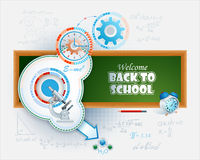 Abstract vector, design background for the Back to school event Royalty Free Stock Images
