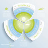 Abstract vector design eco infographic Stock Image