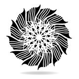 Abstract vector design element, flower shape symmetrical pattern Stock Photography