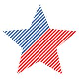 The Abstract vector design element star with american flag Royalty Free Stock Images
