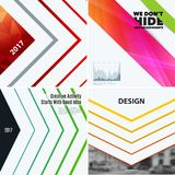 Abstract vector design elements for graphic layout. Modern business template with many colourful rectangles, abstract lines, decoration, joy, party Stock Photo