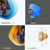 Abstract vector design elements for graphic layout. Modern busin Royalty Free Stock Photo