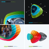 Abstract vector design elements for graphic layout. Modern busin Stock Images