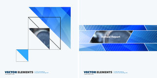 Abstract vector design elements for graphic layout. Modern busin. Ess background template with colourful triangles, arrows for tech, building, urban Stock Photo
