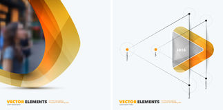 Abstract vector design elements for graphic layout. Modern busin. Ess background template with yellow soft, pebble shapes  for tech, pharmacy, health, ecology.r Royalty Free Stock Image