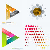 Abstract vector design elements for graphic layout. Modern business background template with colourful triangles,. Arrows for tech, innovative technology stock photos
