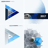 Abstract vector design elements for graphic layout. Modern business background template with colourful triangles,. Arrows for tech, innovative technology Stock Photo