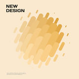 Abstract vector design elements for graphic layout. Modern business background template with yellow gold lines, rounded shapes for branding, template Royalty Free Stock Photography