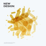 Abstract vector design elements for graphic layout. Modern business background template with yellow gold lines, rounded shapes for branding, template Stock Photography