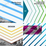 Abstract vector design elements for graphic layout. Modern business template with many colourful rectangles, abstract lines, decoration, joy, party Royalty Free Stock Photos