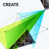 Abstract vector design elements for graphic template. Royalty Free Stock Image