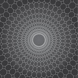 Abstract vector design gray background, line and  diamond to circle net Royalty Free Stock Photography