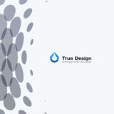 Abstract vector design grey round elements for graphic template Royalty Free Stock Photo