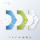 Abstract vector design infographic Royalty Free Stock Photo