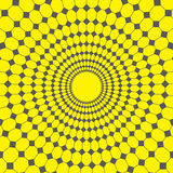 Abstract vector design yellow background , line and  diamond to circle net Royalty Free Stock Photography