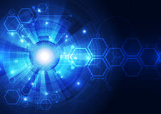 Abstract vector digital technology background design Stock Photo