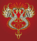 Abstract vector dragon Royalty Free Stock Images