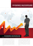 Abstract vector economic background Stock Images