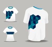 Abstract Vector eenvormig t-shirtontwerp Stock Foto