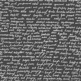 Abstract vector endless seamless texture with handwritten text, words and letters, chalk on grey board effect Stock Images