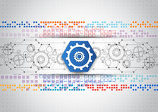 Abstract vector engineering technology background design Royalty Free Stock Photos