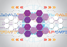 Abstract vector engineering technology background design Stock Photo