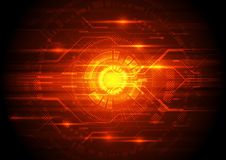 Abstract vector engineering technology background, illustration Royalty Free Stock Images