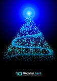 Abstract vector eps10 glowing background. Christma Stock Photo