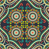 Abstract vector ethnic background seamless pattern Stock Photo