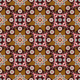 Abstract vector ethnic background seamless pattern Royalty Free Stock Photo