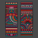 Abstract Vector Ethnic Pattern Cards Set Royalty Free Stock Image