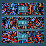 Abstract vector ethnic pattern cards Stock Image