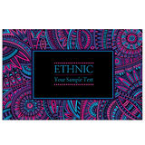 Abstract vector ethnic pattern's border Stock Photography
