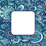 Abstract vector ethnic pattern's border. Royalty Free Stock Photos
