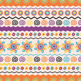Abstract vector ethnic seamless pattern. Use for wallpaper, patt Stock Photo