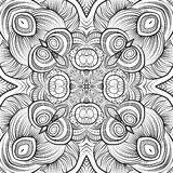 Abstract vector ethnic sketchy background. Abstract vector decorative ethnic hand drawn sketchy contour seamless pattern stock illustration