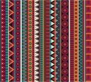 Abstract vector etnisch naadloos patroon Stock Afbeelding