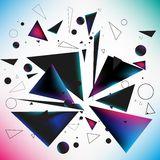 Abstract vector explosion. Of deifferent geometric shapes. EPS 10 Stock Images