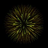 Abstract vector explosion or fireworks on a dark background. Magic light effect background Royalty Free Stock Image