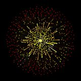 Abstract vector explosion or fireworks on a dark background. Mag. Ic light effect background Stock Photography