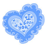 Abstract vector figured heart with words of love on it Stock Photography