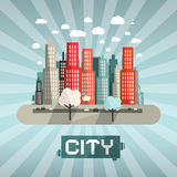 Abstract Vector Flat Design City Stock Images