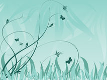 Abstract vector floral backdrop with plants Stock Photography