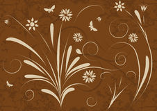 Abstract vector floral design. An abstract vector floral design Stock Photography