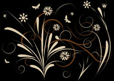 Abstract vector floral design Royalty Free Stock Image