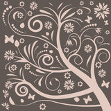 Abstract vector floral design royalty free illustration